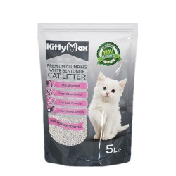 Kitty Max Baby Powder Scented Topaklanan İnce Taneli Kedi Kumu 5 Lt
