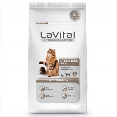 La Vital Sterilised Lamb Kısır Kedi Maması 1KG