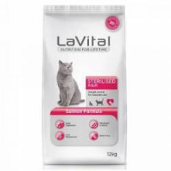 La Vital Sterilised Somonlu Kısır Kedi Maması 1KG AÇIK