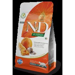 N&D Pumpkin Balkabaklı Ringa Balıklı&Portakallı Tahılsız Yetişkin Kedi Maması 1,5 kg