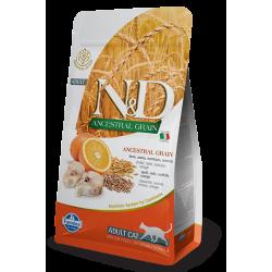N&D Low Grain Morina Balıklı&Portakallı Düşük Tahıllı Yetişkin Kedi Maması 1,5 kg