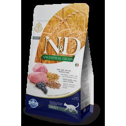 N&D Low Grain Kuzulu&Yaban Mersinli Düşük Tahıllı Yetişkin Kedi Maması 1,5 kg
