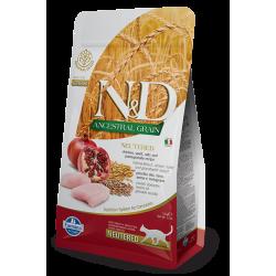 N&D Low Grain Tavuklu&Narlı Düşük Tahıllı Kısırlaştırılmış Kedi Maması 1,5 kg