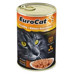 EuroCat Kedi Konservesi Kümes Hayvanlı 415gr