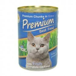 Premium Kedi Konservesi Balıklı 415gr