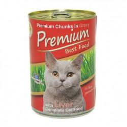 Premium Kedi Konservesi Ciğerli 415gr