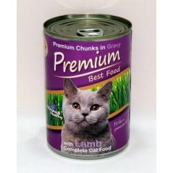 Premium Kedi Konservesi Kuzulu 415gr