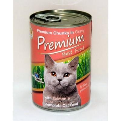 Premium Kedi Konservesi Somonlu 415gr