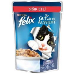 Felix Sığır Etli Yetişkin Kedi 100gr