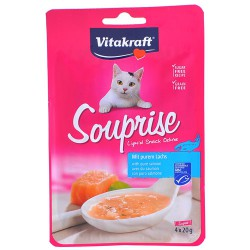 Vitakraft Kedi Sıvı Ödül Somonlu Çorba 4 adet x 20gr
